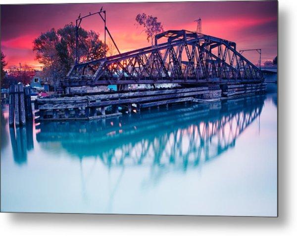 Erie Canal Swing Bridge Metal Print