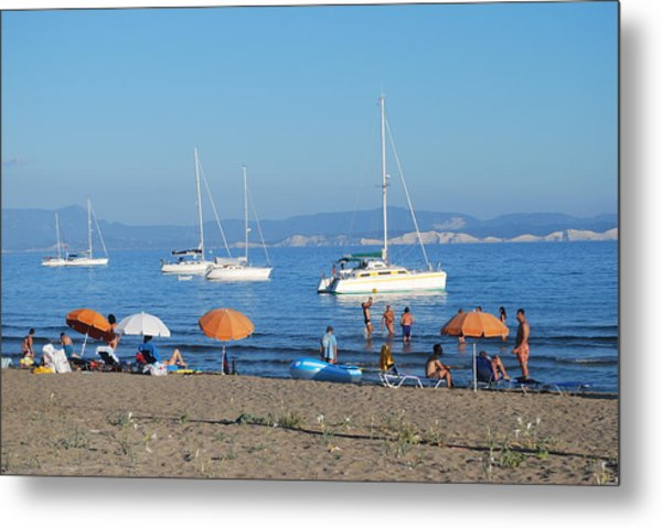 Erikousa Beach One Metal Print