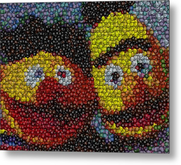 Ernie And Bert Mm Mosaic Metal Print