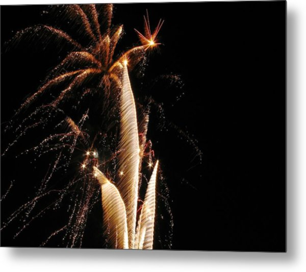 Eruptions In The Night Metal Print by Steven Parker