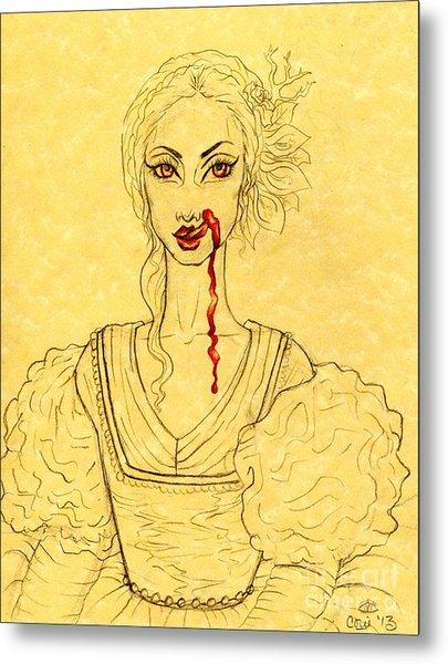 Erzibeth Bathory Metal Print by Coriander  Shea