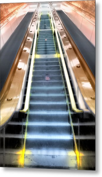 Escalator To Heaven Metal Print