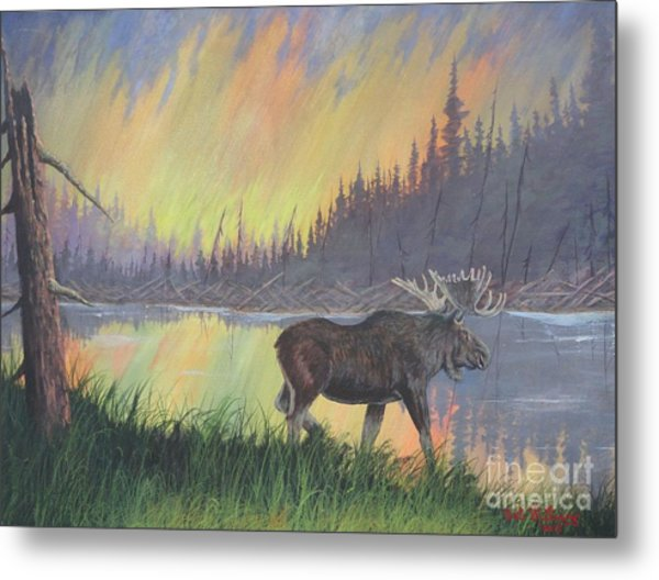 Escaping The Yellowstone Fires Metal Print