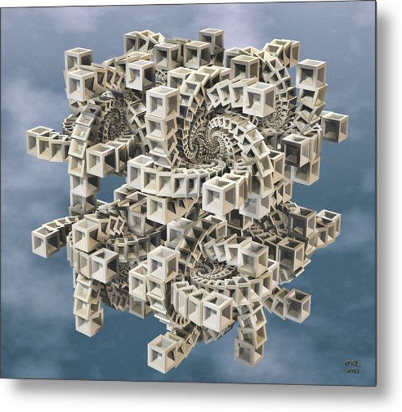 Escher's Construct Metal Print