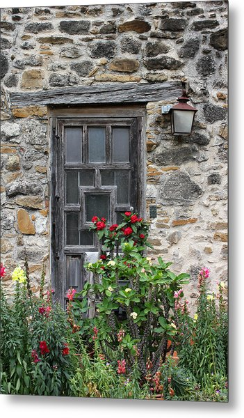 Espada Doorway With Flowers Metal Print