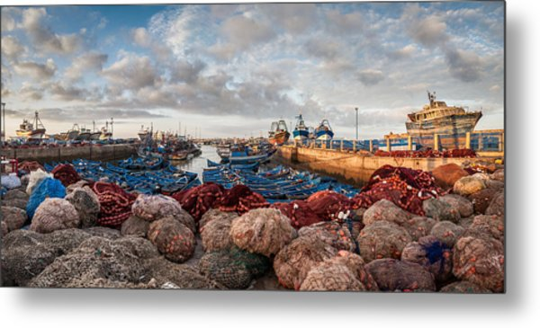 Essaouira Harbour Metal Print by Michael Avory