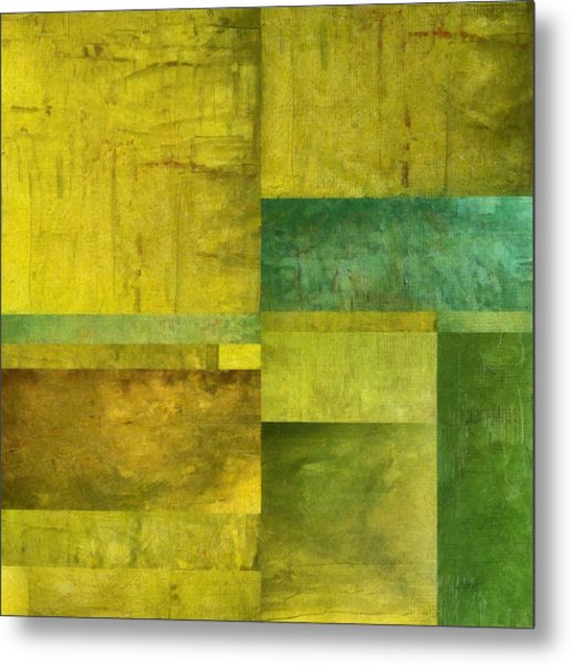 Essence Of Green Metal Print