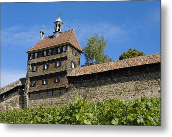 Esslingen Castle Wall Metal Print