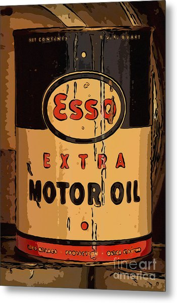 Esso Motor Oil Can Metal Print