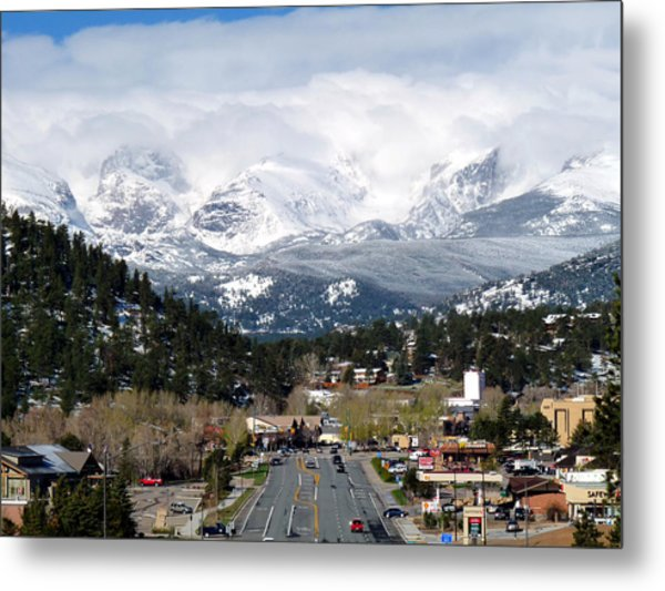 Estes Park In The Spring Metal Print