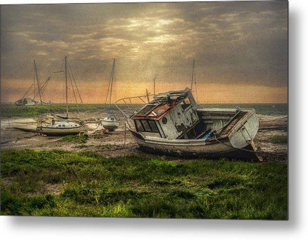 Estuary Evening Metal Print