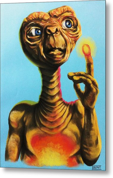 E.t. The Extra Terrestrial  Metal Print