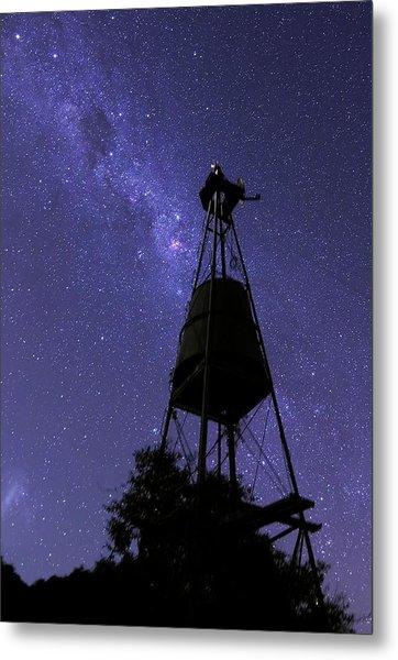 Eta Carina Nebula And Water Tower Metal Print by Luis Argerich