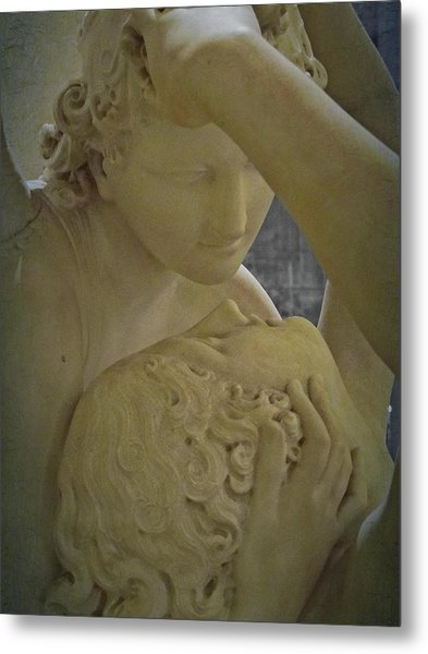 Eternal Love - Psyche Revived By Cupid's Kiss - Louvre - Paris Metal Print