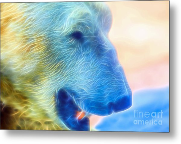 Ethereal Bear Metal Print