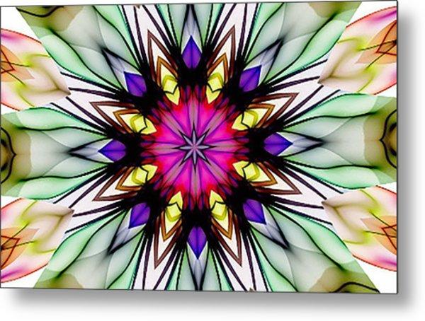 Ethereal Colors Mandala Metal Print