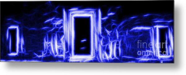 Ethereal Doorways Blue Metal Print