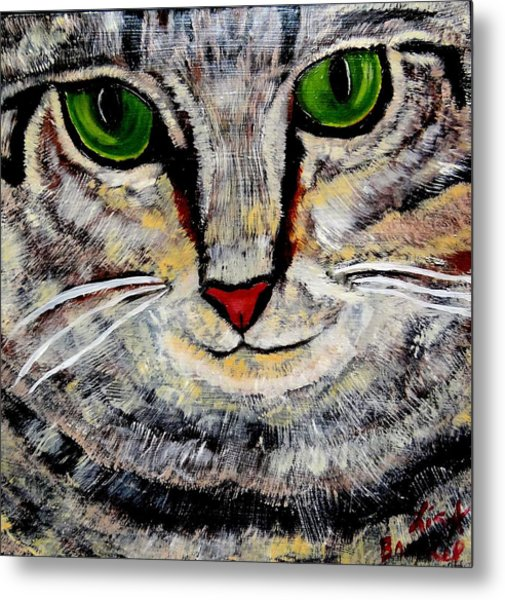 Ethical Kitty See's Your Dilemma Metal Print