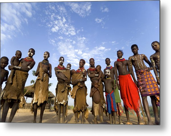 Ethiopia Groups Metal Print