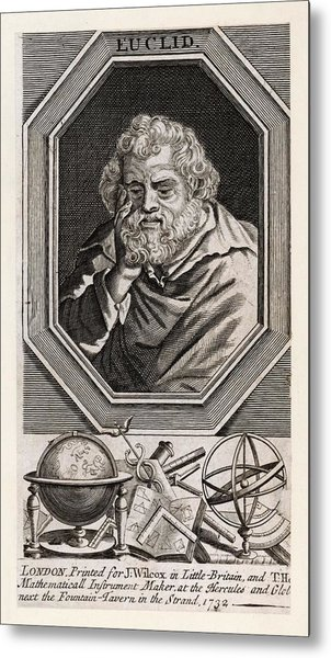 Euclid  Mathematician Of Alexandria Metal Print by Mary Evans Picture Library