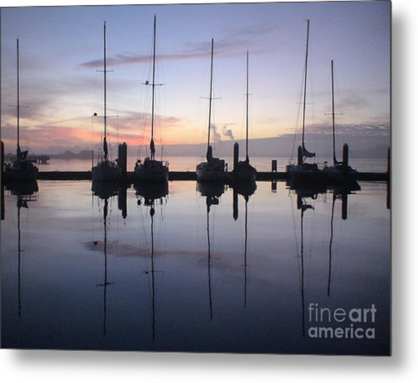 Eureka Harbor At Sunset Metal Print