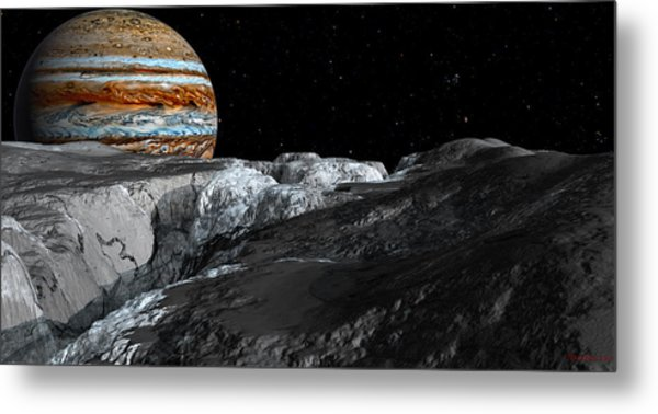 Europa Icefields Metal Print