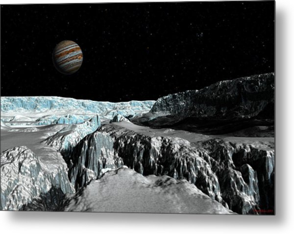 Europa's Icefield  Part 2 Metal Print