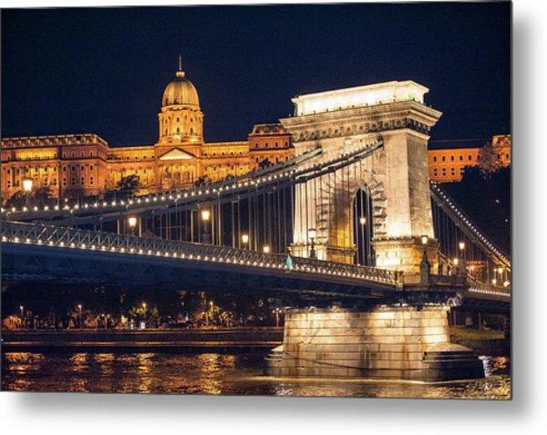 Europe, Hungary, Budapest, Chain Metal Print