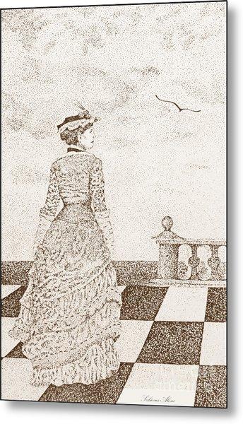 European Lady In The 19 Century Metal Print