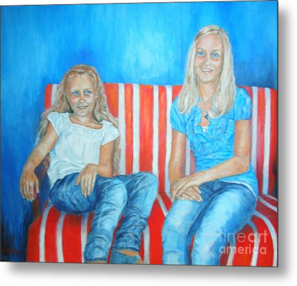Eva And Antonia Metal Print