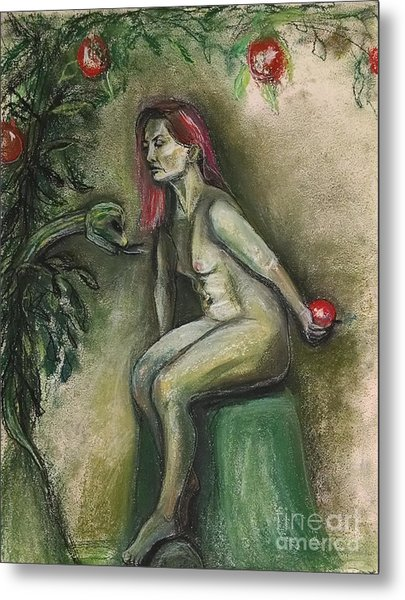 Eve In The Garden  Metal Print