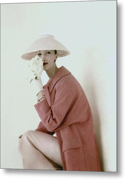 Evelyn Tripp Wearing Pink Metal Print