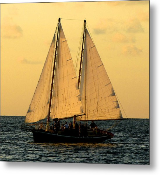 More Sails In Key West Metal Print