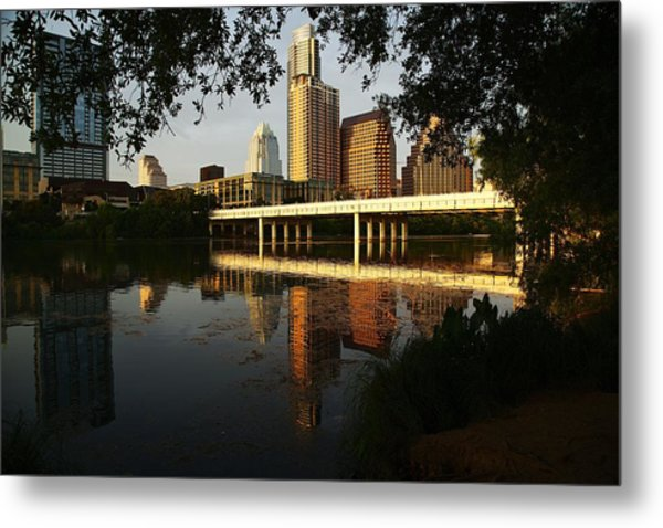 Evening Along The River Metal Print