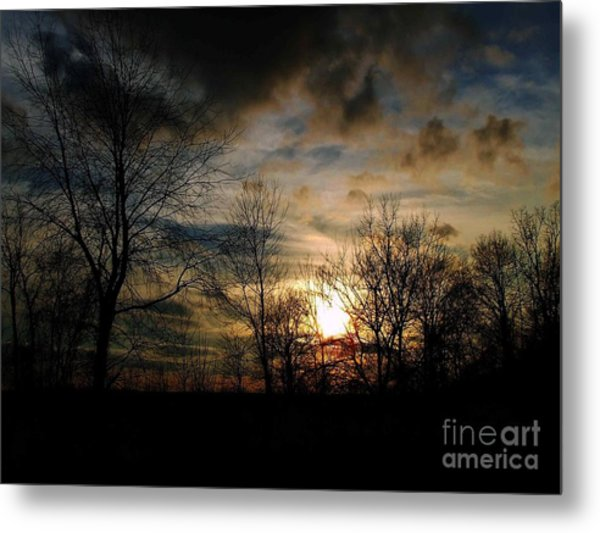 Evening Approach Metal Print