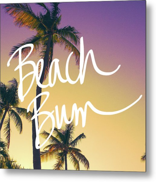 Evening Beach Bum Metal Print