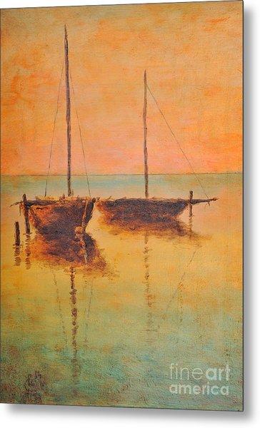 Evening Boats Metal Print