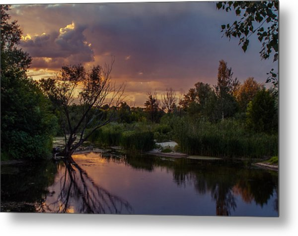 Evening Colors Metal Print
