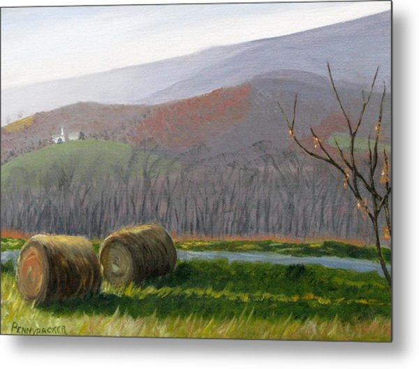 Evening Comes To Penns Valley Metal Print