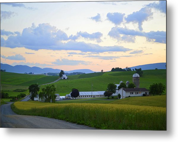 Evening Countryside #1 - Millmont Pa Metal Print