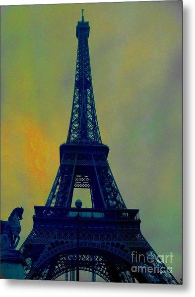 Evening Eiffel Tower Metal Print