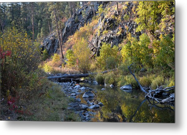 Evening Falls On Spring Creek Metal Print