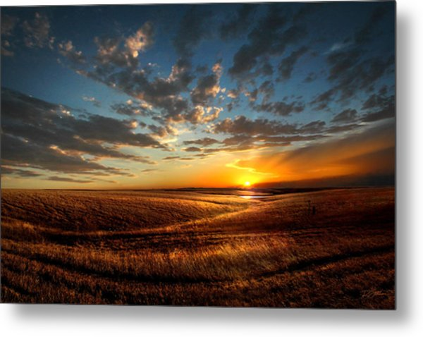 Evening Glow In Chase County Metal Print