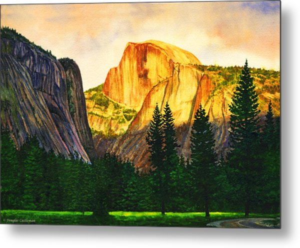 Evening Glow In Yosemite Metal Print
