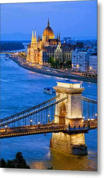 Evening In Budapest Metal Print