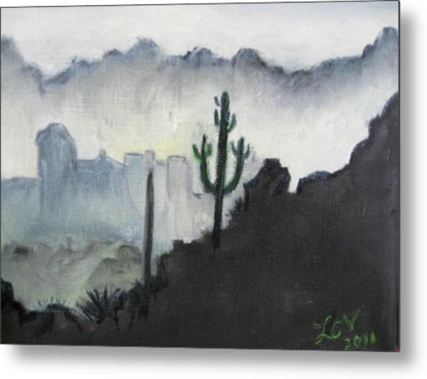 Evening In The Desert Metal Print
