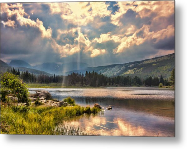 Evening In The Rocky Mountain National Park Metal Print