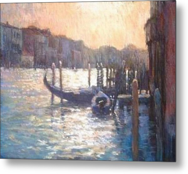 Evening Light On The Grand Canal Metal Print by Jackie Simmonds
