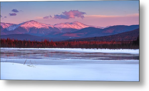 Metal Print featuring the photograph Evening Light On The Presidential Range. by Jeff Sinon
