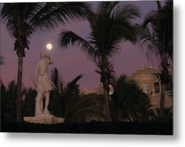 Evening Moon Metal Print